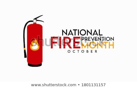 vector fire prevention equipment concept with hydrant stock photo © dashadima