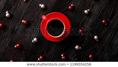 クリスマス ビーズ 周りに ホットドリンク ショット ストックフォト © dash
