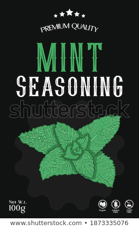 Mint Powder Spice Poster, Vector Illustration Stock photo © robuart