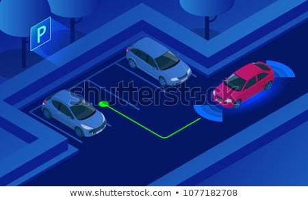 вектора изометрический автомобилей стоянки современных городской улице Сток-фото © tele52