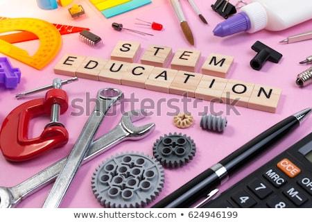 Establecer tecnología objeto tallo educación ilustración Foto stock © bluering