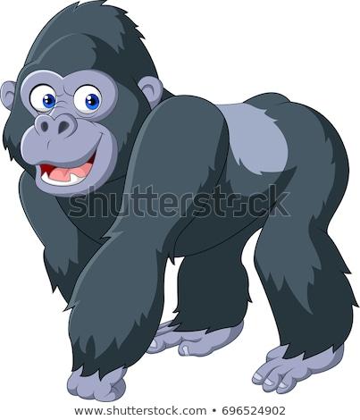 Cartoon gorilla lopen illustratie groot grafische Stockfoto © cthoman