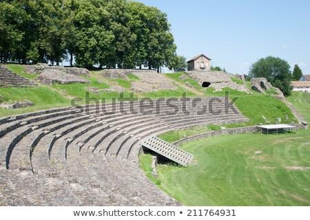 roman theatre in autun stock photo © hofmeester