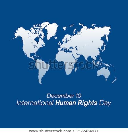 internationaux · droits · de · l'homme · carte · personnes · égalité · conscience - photo stock © cienpies