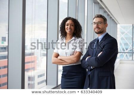 Dois discutir negócio homem casal Foto stock © Minervastock