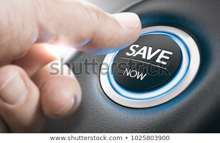 Photo stock: Homme · poussant · suv · commencer · bouton