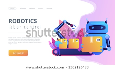 Labor substitution concept landing page. Stock photo © RAStudio