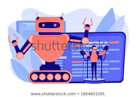Remotely operated robots concept vector illustration. Stock photo © RAStudio