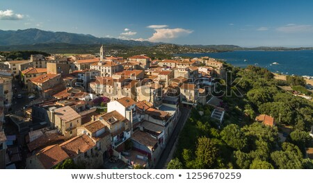 Aerial view of Porto-Vecchio old town, Corsica, France Stock photo © lightpoet