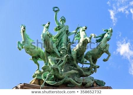 Paris estátua França verde azul arquitetura Foto stock © boggy