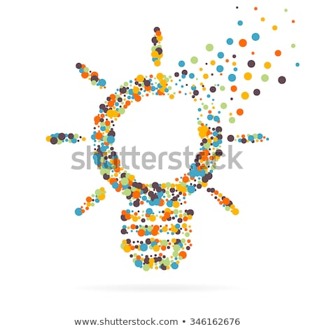 Idea in Business Electric Bulb with Shapes Vector Stock photo © robuart