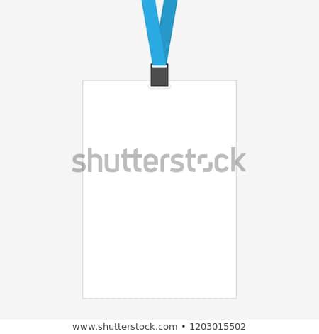 Vertical identificação cartão realista modelo Foto stock © AisberG