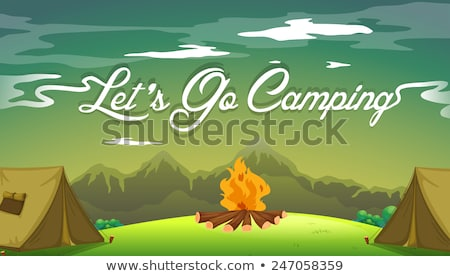 A poster showing a campsite Stock photo © colematt