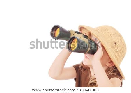 Safari meisje witte illustratie baby man Stockfoto © colematt