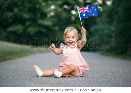 kız · vatansever · kadın · Avustralya - stok fotoğraf © lovleah