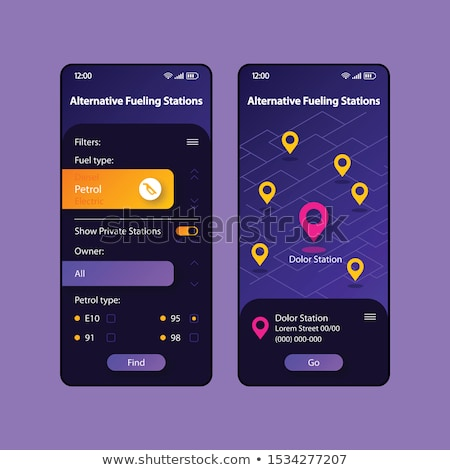 Alternative fuel app interface template. Stock photo © RAStudio