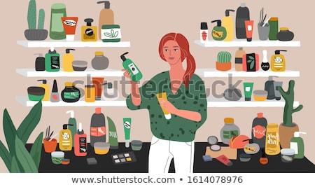 Person Choosing Makeup Cosmetics Product Vector Stock photo © robuart