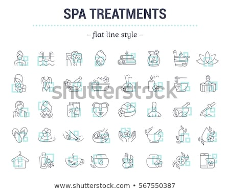 Spa Salon Body Wrap Procedure Isolated Icon vector Stock photo © robuart