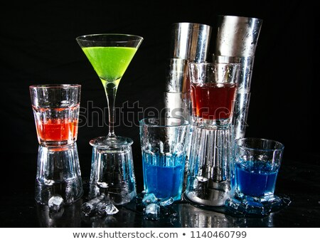 Nightclub Bartender Pouring Alcoholic Drinks Glass Stock photo © robuart