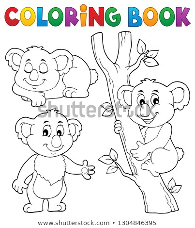 coloring book koala theme 1 stock photo © clairev