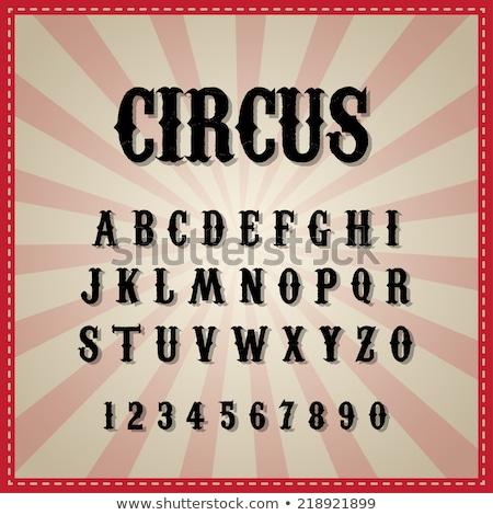 Doopvont ontwerp woord circus illustratie achtergrond Stockfoto © colematt