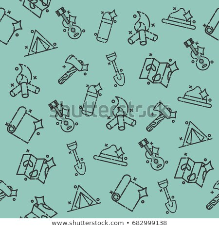 Boy scouts concept icons pattern Stock photo © netkov1