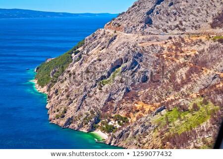 Scenic road in Makarska riviera Biokovo cliffs waterfront view Stock photo © xbrchx