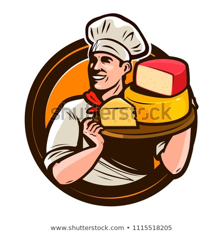 Mascotte fromages bord illustration Photo stock © lenm