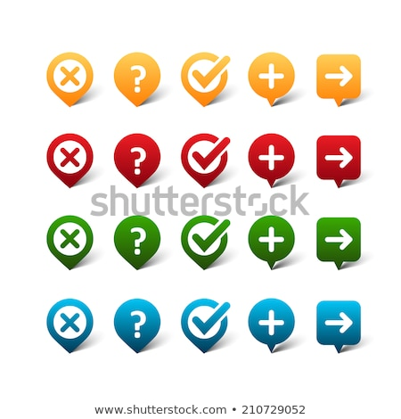 check box blank checkmark and question mark tick check mark approval signs design ok symbol icon stock photo © kyryloff
