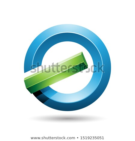 blue and green round glossy reversed letter g or a icon stock photo © cidepix