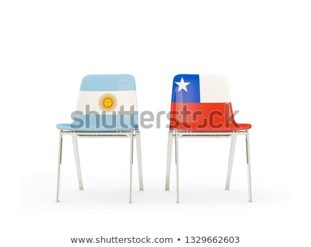 Two chairs with flags of Argentina and chile Stock photo © MikhailMishchenko