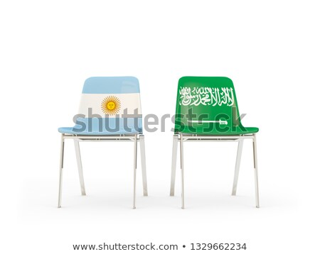 Two chairs with flags of Argentina and saudi arabia Stock photo © MikhailMishchenko