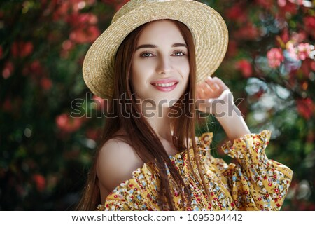 Portrait of young  woman with radiant clean outdoor on a spring Stock photo © lightpoet