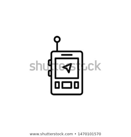 Przenośny GPS urządzenie ikona szablon niebieski Zdjęcia stock © angelp