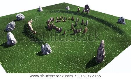 UNESCO Newgrange - circle of standing stones Stock photo © Eireann