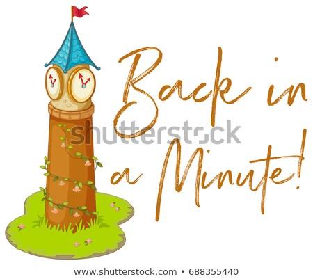 Ifade geri dakika saat kule örnek Stok fotoğraf © colematt