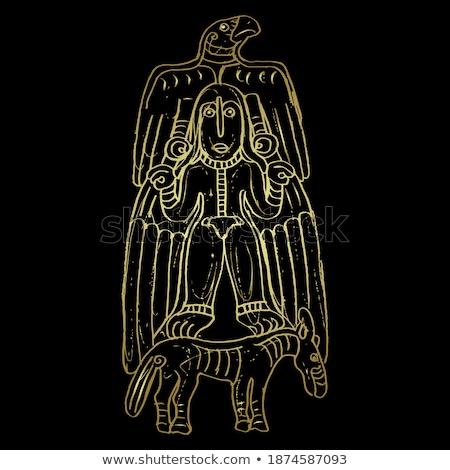 Złoty szorstki szkic znak ręką strony model Zdjęcia stock © Blue_daemon