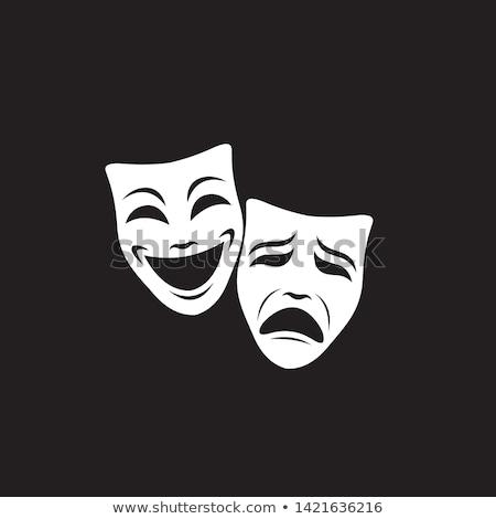 teatro · maschere · triste · maschera · nero · oro - foto d'archivio © elenashow
