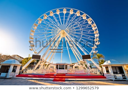Giant Ferris wheel in Antibes colorful view Stock photo © xbrchx