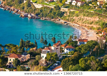 Cap Martin near Monaco idyllic bay and beach view Stock photo © xbrchx