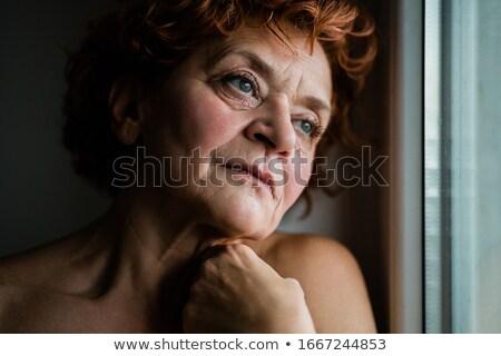 одиноко несчастный женщину комического Cartoon Поп-арт Сток-фото © rogistok