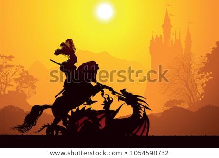 cavaliere · principessa · cartoon · illustrazione · amore · Coppia - foto d'archivio © bluering