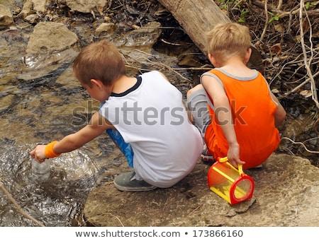 рыбалки · реке · фото · мало · Kid - Сток-фото © lopolo
