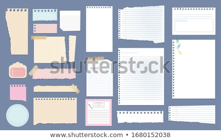 Notes on copybook page Stock photo © pressmaster