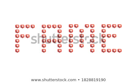 3D illustration of the word Fame  Stock photo © Spectral