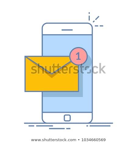 conversar · vetor · telefone · móvel · tela · novo - foto stock © tashatuvango