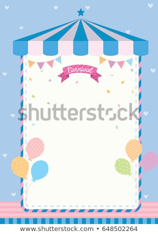 A circus note template Stock photo © bluering