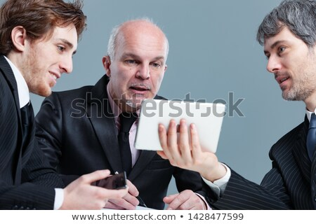 Three businessman having an animated discussion Stock photo © Giulio_Fornasar