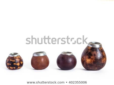 calabash and bombilla with yerba mate photo stock © grafvision