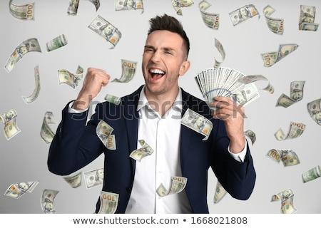 üzletember nyerő pénz boldog új milliomos Stock fotó © Lightsource